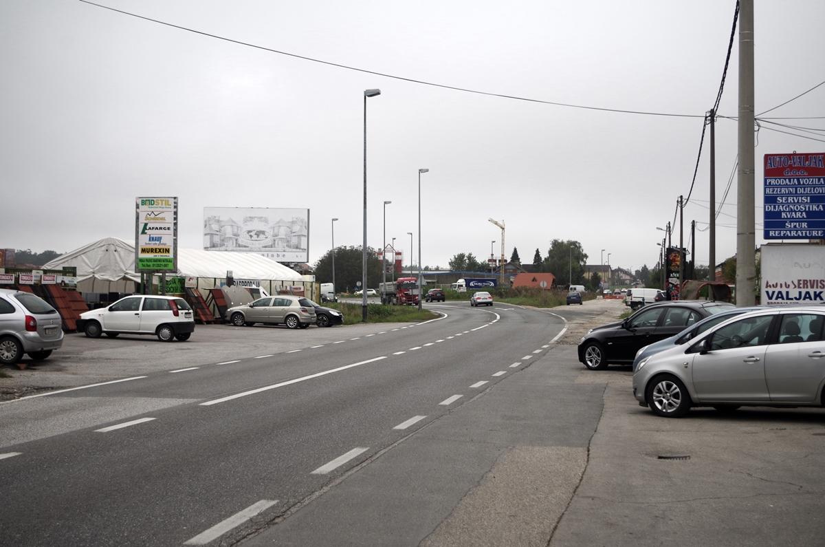 Bundesstraße kurz vor Zagreb